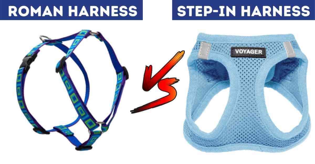 roman harness vs step in harness